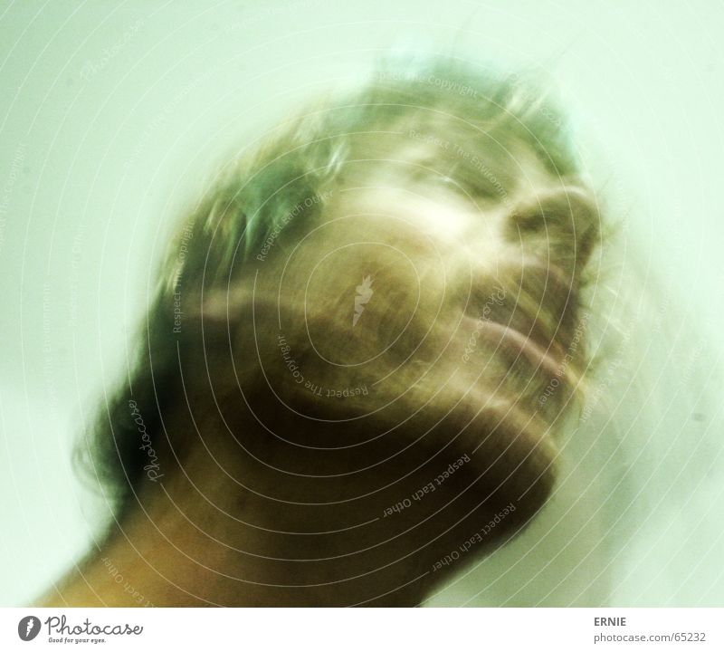 Loneliness Above Movement Hair and hairstyles Mouth Open Boredom Neck Self portrait Sounds of levity Prague