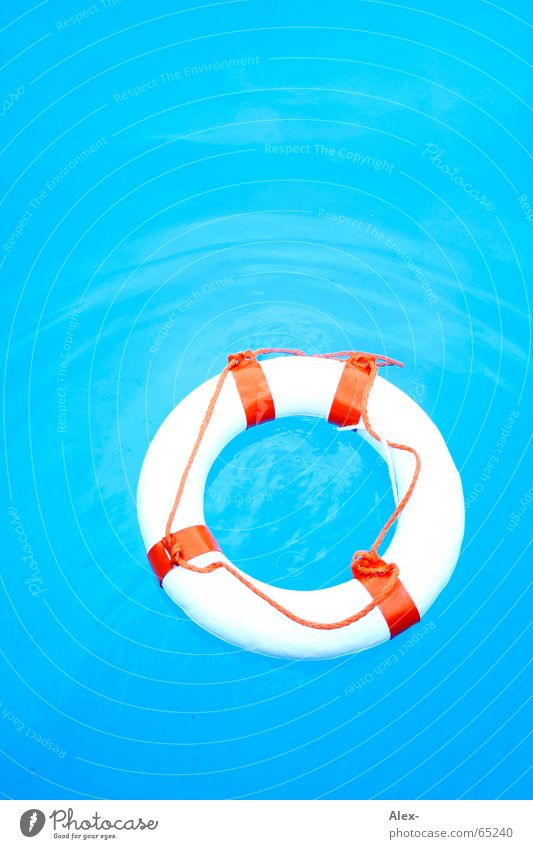 Man overboard II Water wings Life belt Rescue Swimming pool Go under Disaster Air Summer Emergency Needy Pool attendant Help Non-swimmer more Orange Blue