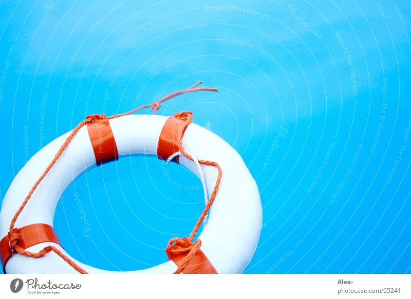 Water Blue Summer Air Orange Help Swimming pool Swimming & Bathing Disaster Rescue Go under Water wings Needy Life belt Emergency