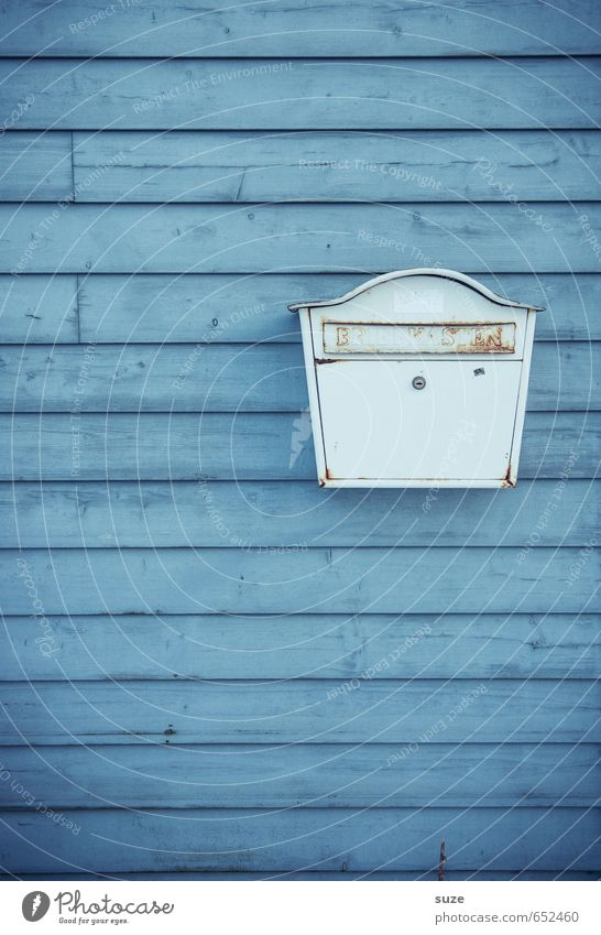 Blue Old White Colour Wall (building) Wall (barrier) Small Wood Line Background picture Facade Gloomy Authentic Simple Transience Stripe
