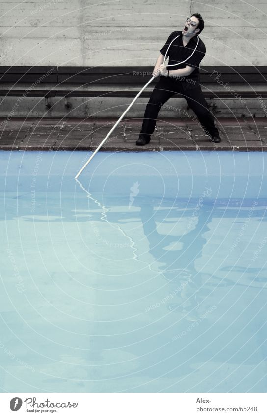 Water Dark Playing Fog Wet Rope Help Swimming pool Evil Fight Rescue Aggravation Pull Rod Needy Loop