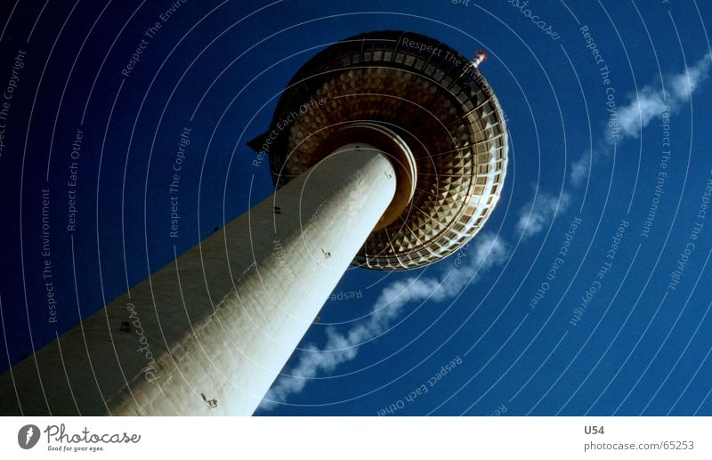 hair sharp Airplane Sky blue Summer Berlin television tower Flying