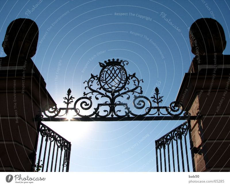 Sun Park Art Beautiful weather Iron Portal Wrought ironwork