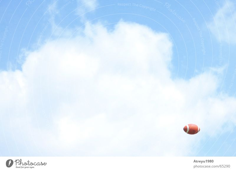 Sky Blue Clouds Sports Throw American Football