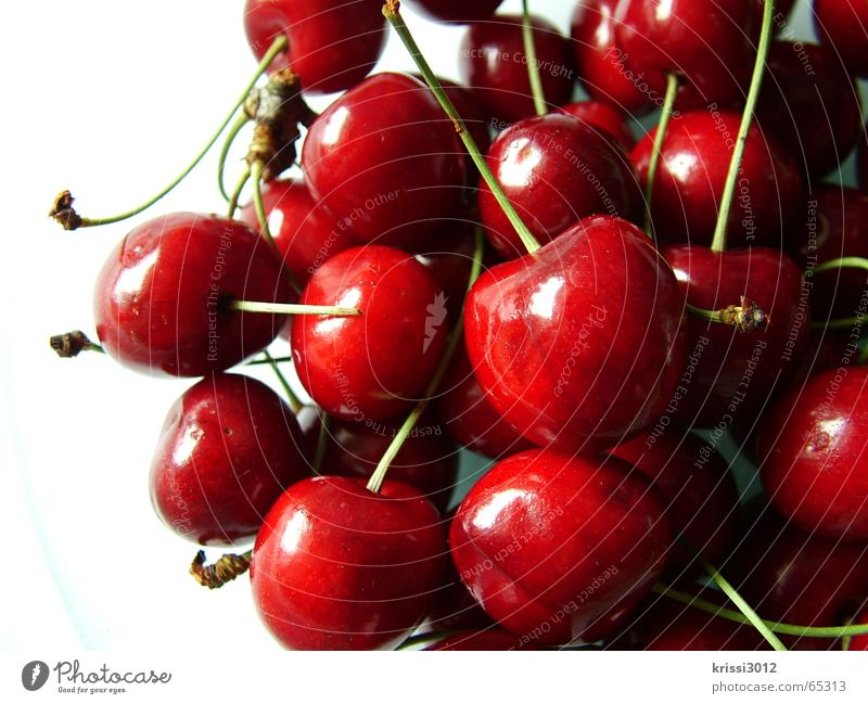 cherry cherry lady II Cherry Fruit flesh Red Fruit sugar Nutrition Press Sweet Green Plant Food Summer Tree Bitter Environment White Heart Harvest fruit pulp