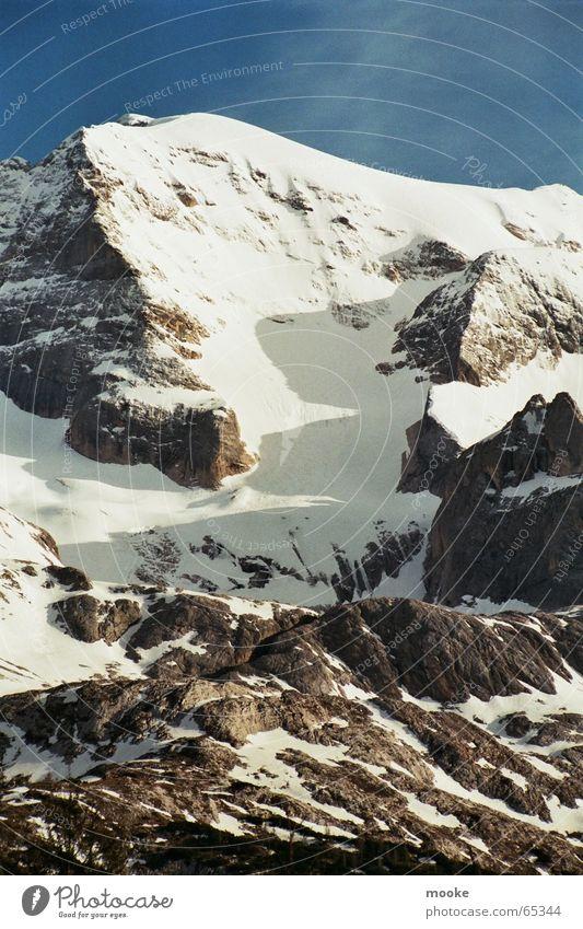White Blue Snow Mountain Gray Ice Rock Corner Peak Glacier Steep