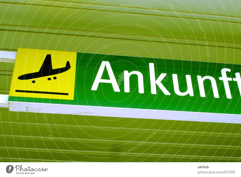 Arrival Airplane Yellow Green Icon Symbols and metaphors Airport Flying Warehouse Signs and labeling Blanket Airplane landing
