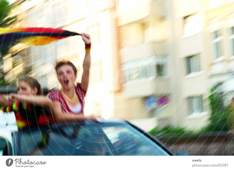 third World Cup 2006 Applause Fan Flag cheerful turbulence Germany autocorso