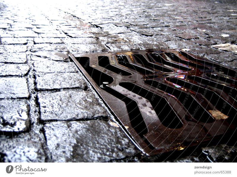 Street Cobblestones Gully Zurich Effluent