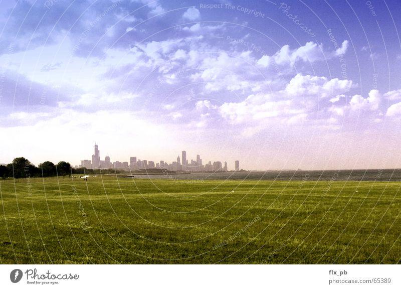 Sky City USA Peace Trust Skyline Film industry Chicago Apocalyptic sentiment Lake Michigan