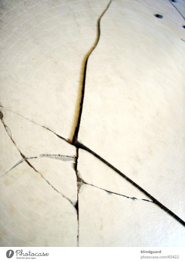 White Jump Electricity Corner Broken Floor covering Tile Broken Crack & Rip & Tear Shard Splinter Pottery Burst