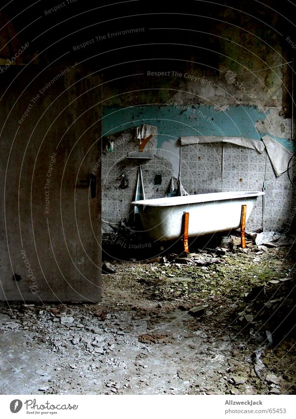 Old Loneliness Room Dirty Door Poverty Grief Bathroom Broken Trash Creepy Wallpaper Rust Shabby Chaos Bathtub