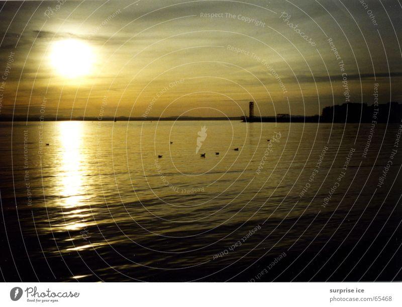 Sunset Kitsch Lake Romance Calm Nature
