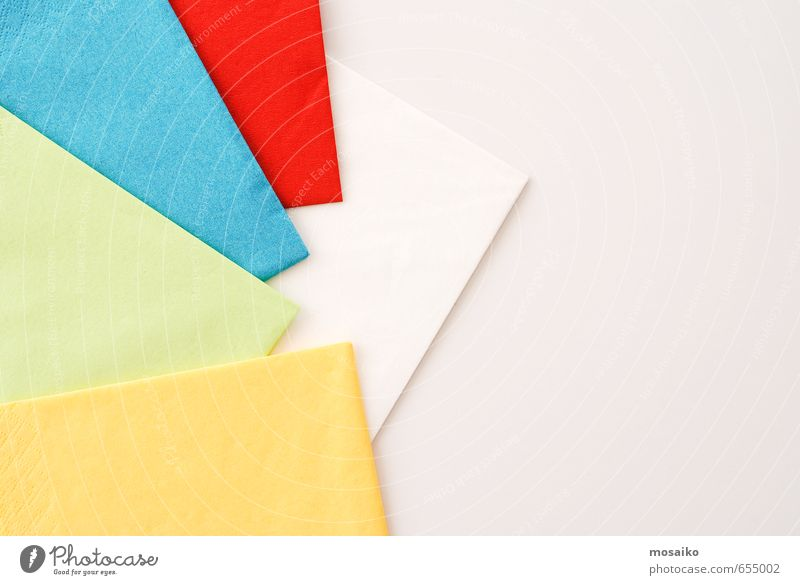 paper napkins Blue Green White Red Joy Yellow Eating Lifestyle Feasts & Celebrations Food Party Design Birthday Cleaning Wedding Restaurant