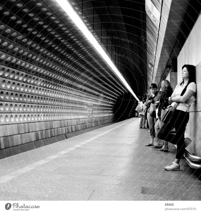 tunnel vision Prague Underground London Underground Subsoil Light Lamp Design Japan Wall (building) Human being Town Round Transport Tile Wait Lean