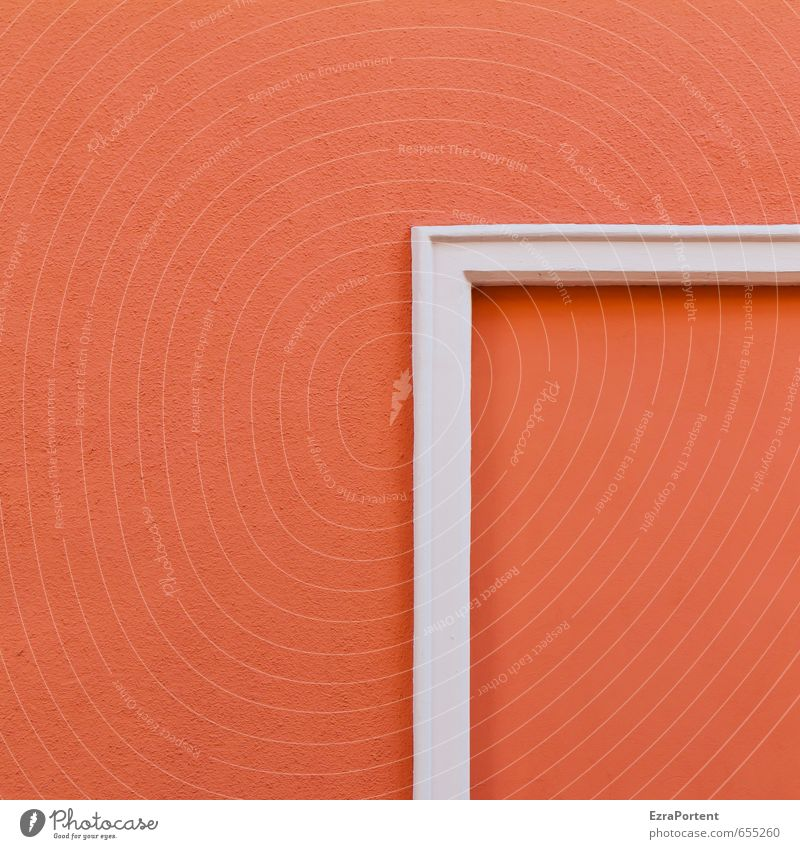 Beautiful White Red House (Residential Structure) Wall (building) Building Wall (barrier) Line Art Facade Orange Design Esthetic Point Clarity
