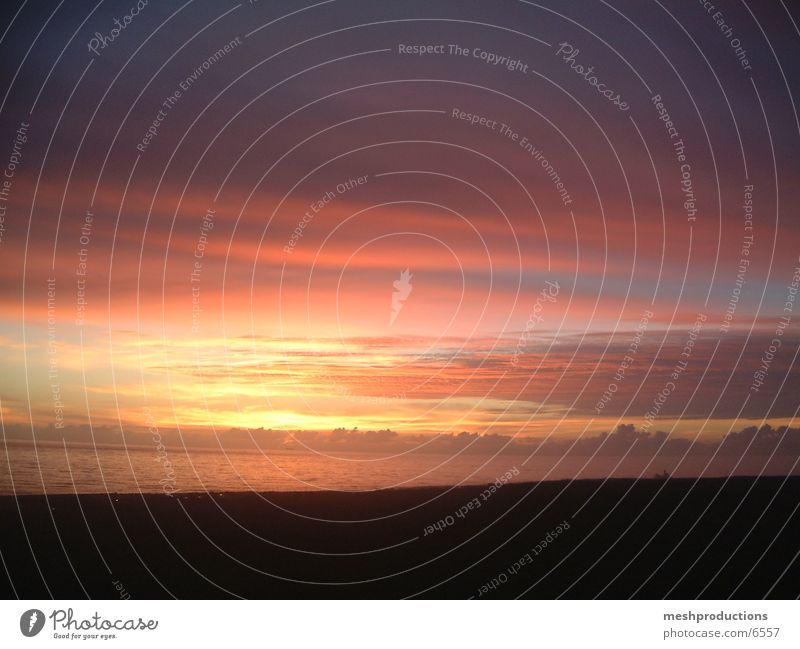 sunset Sunset Sky ocean