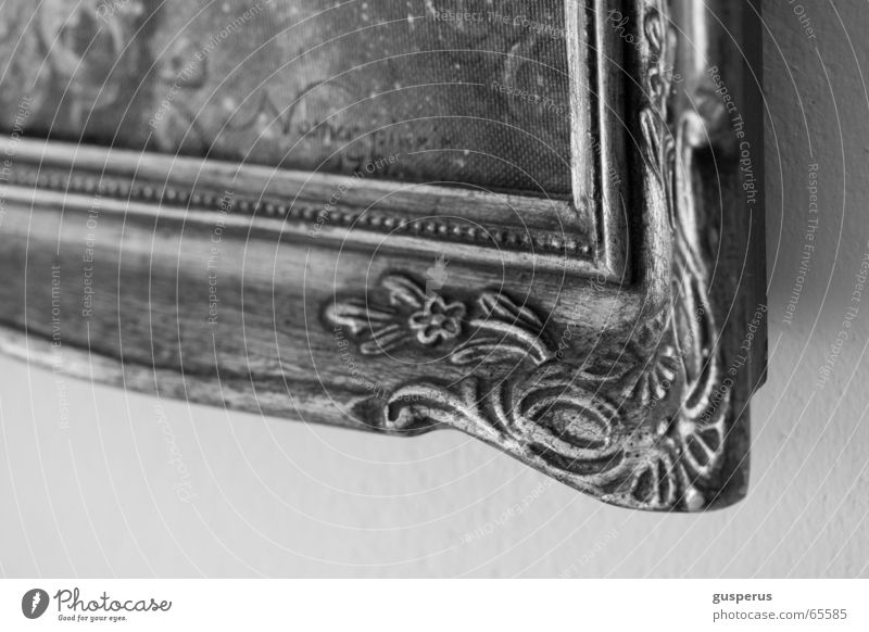 { Original } Ornament Overload Ancient Image Frame Decoration Kitsch Black & white photo Old Trashy Detail magnificent