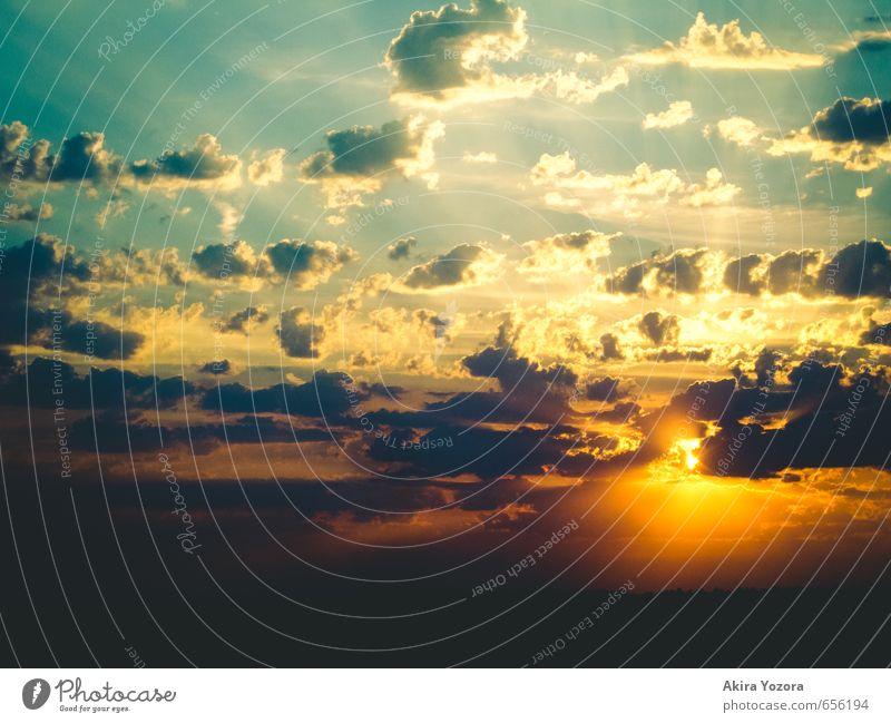 Sky Nature Blue Sun Clouds Black Yellow Moody Orange Illuminate Touch Hope Romance Belief