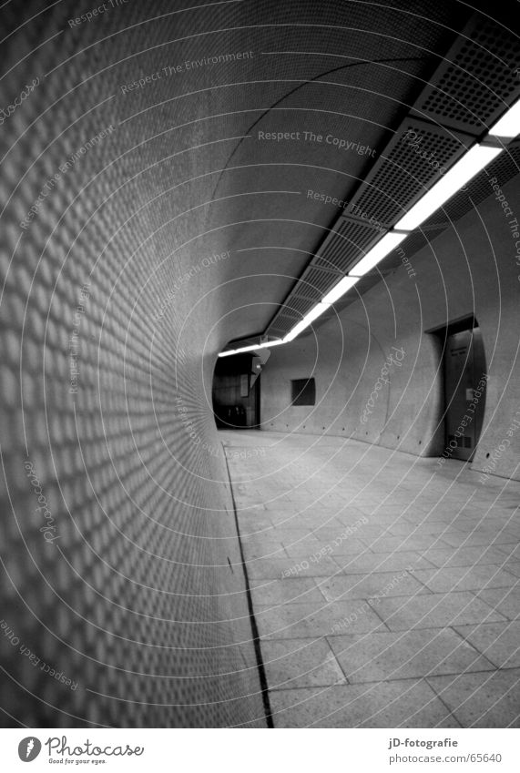 Tube_#01 Tunnel Subsoil Underground Line Black & white photo Corridor Architecture