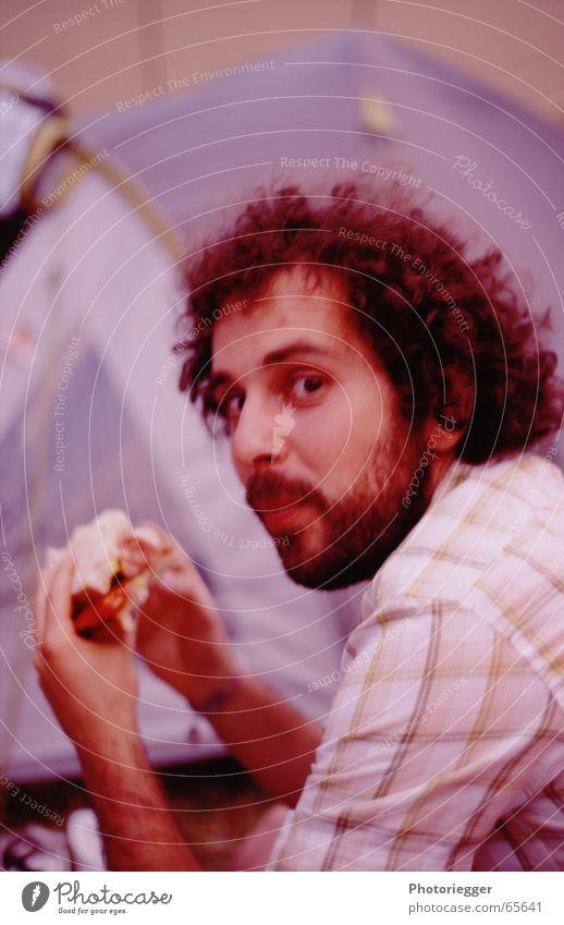 Nutrition Eating Facial hair Friendliness Shirt Bread Curl Tomato Checkered Cheese Italians World champion