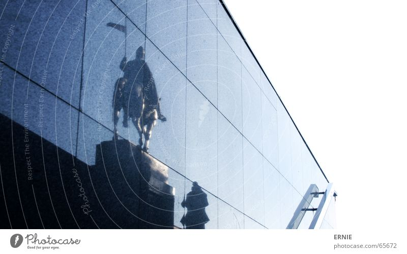 Reeeita Prague Reflection Town Wall (building) White Seam Rider Sky Stairs Blue end on site tired^^