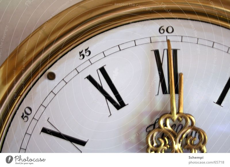 Calm Gold Time Clock Stress Classic Clock hand