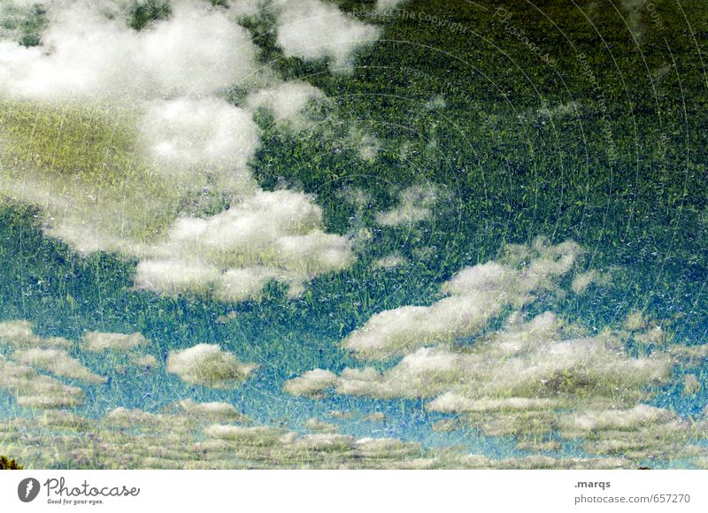heaven on earth Elegant Style Environment Nature Sky Clouds Summer Climate Weather Beautiful weather Meadow Exceptional Moody Double exposure Heavenly Freedom