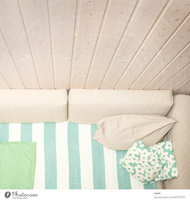 Green White Calm Wall (building) Interior design Style Bright Flat (apartment) Room Living or residing Design Authentic Simple Clean Stripe Friendliness