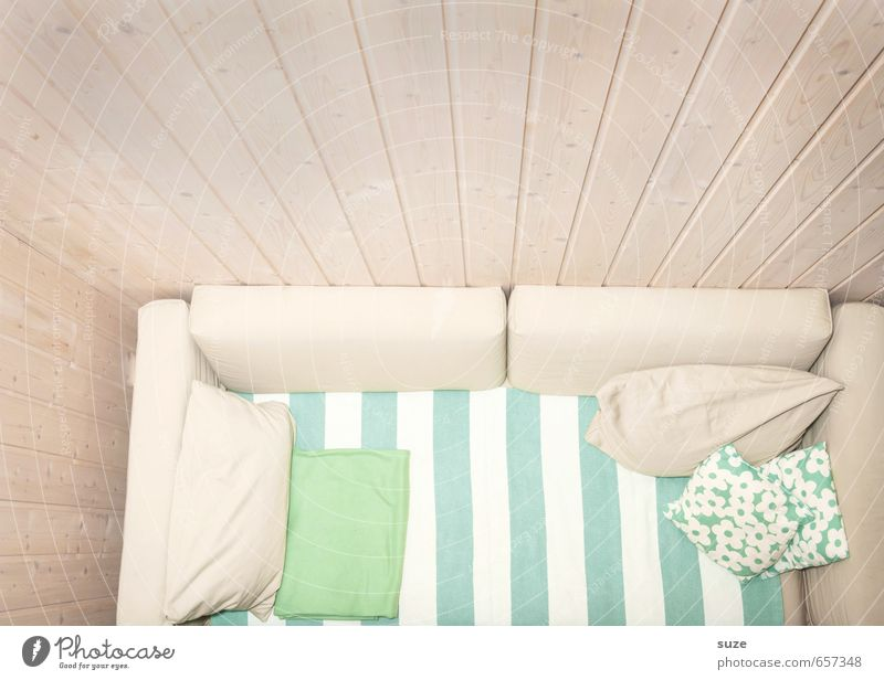 Green White Relaxation Calm Wall (building) Interior design Style Bright Flat (apartment) Room Lifestyle Living or residing Design Authentic Simple Stripe