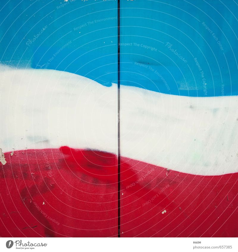 Blue White Red Wall (building) Wall (barrier) Style Line Background picture Design Modern Simple Stripe Illustration Flag France Graphic