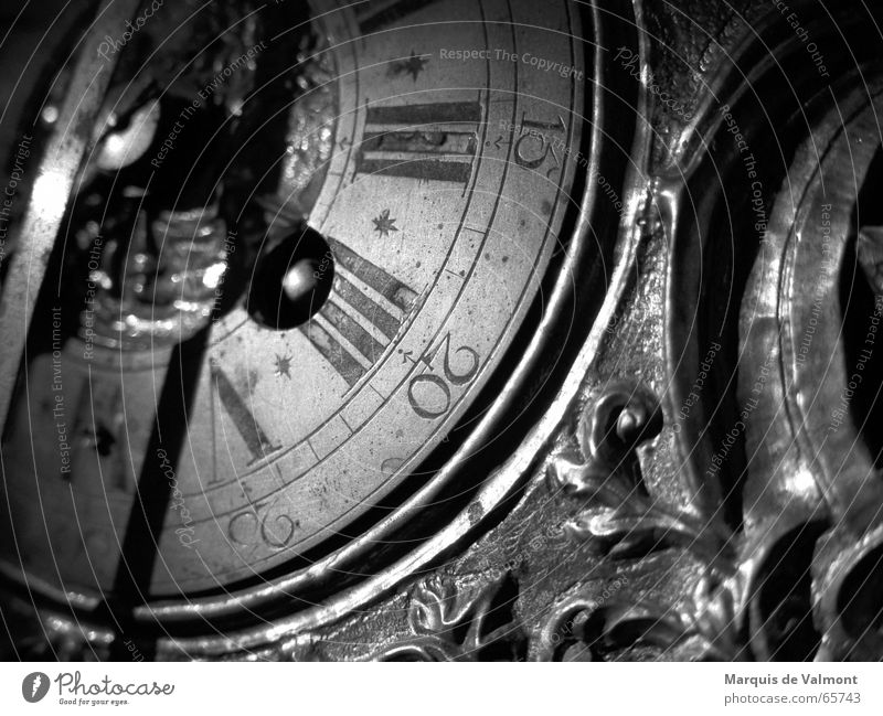 Old White Black Architecture Time Clock Decoration Digits and numbers Analog Historic Rome Ornament Italy Baroque Scale Arabia