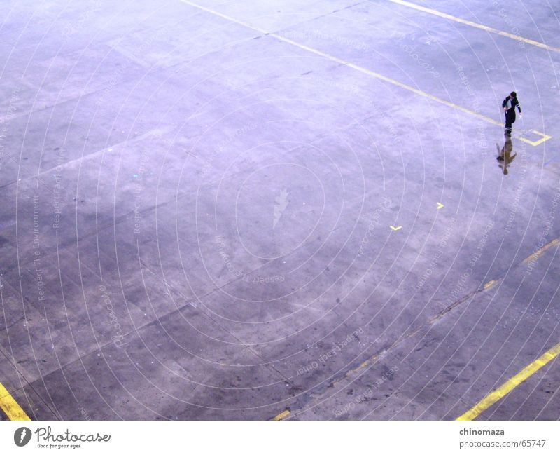 solitary walker Dance floor Human being alone traveller rain Reflection Men worker
