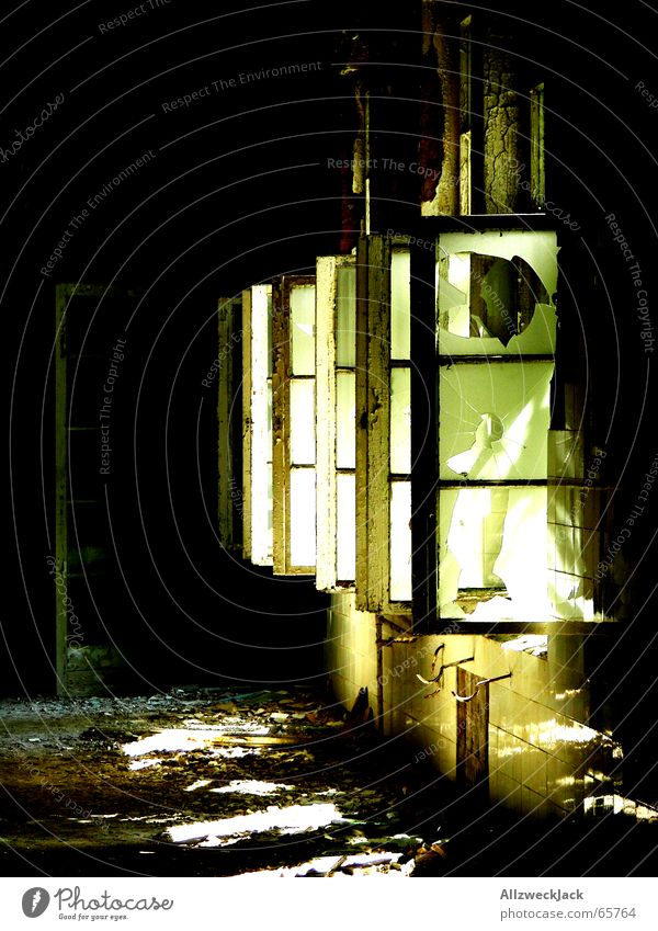Old Sun Loneliness Dark Window Bright Lighting Dirty Glass Poverty Gloomy Open Broken Ruin Shabby Hallway