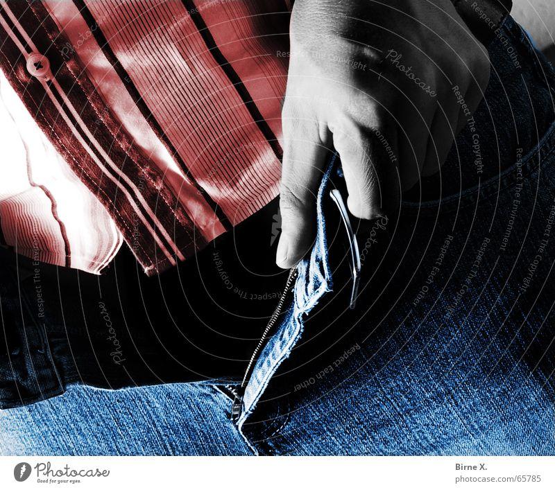 Dead Pants Man Shirt Undo Pants zipper Zipper Empty Black Lack Hand Jeans Open Death Gender sex divide finger thumb