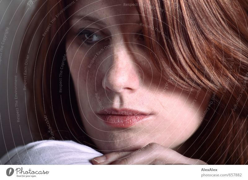 STUDIO TOUR | close portrait of a young, freckled, redheaded woman pretty Hair and hairstyles Skin Face Young woman Youth (Young adults) 18 - 30 years Adults