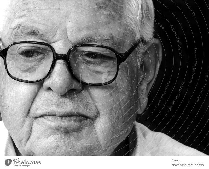 Man Senior citizen Sadness Think Grief Go under Earnest Erudite Sensitive