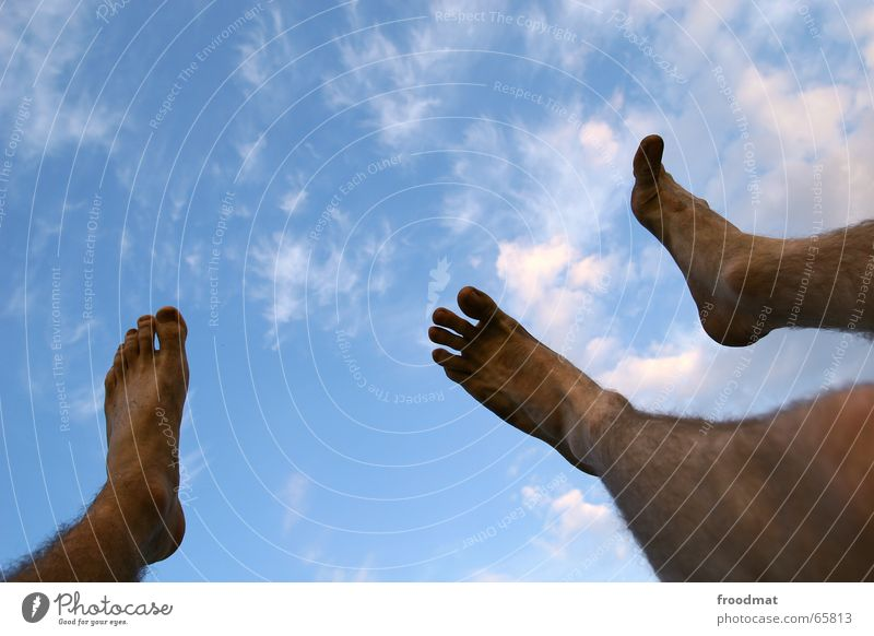 three dirty feet Clouds Sunset Dirty Toes Feet Sky looked up Music festival Barefoot