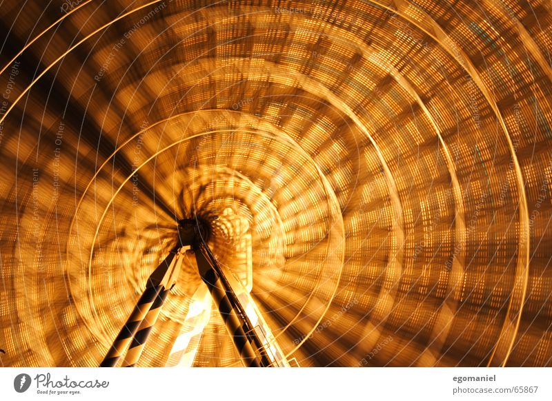 Squaring the circle Fairs & Carnivals Ferris wheel Round Light Night Long exposure Circle