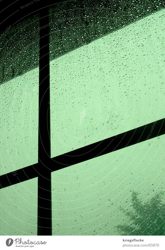 Water Green Blue Dark Window Gray Rain Moody Glass Drops of water Back Thunder and lightning Storm Power failure