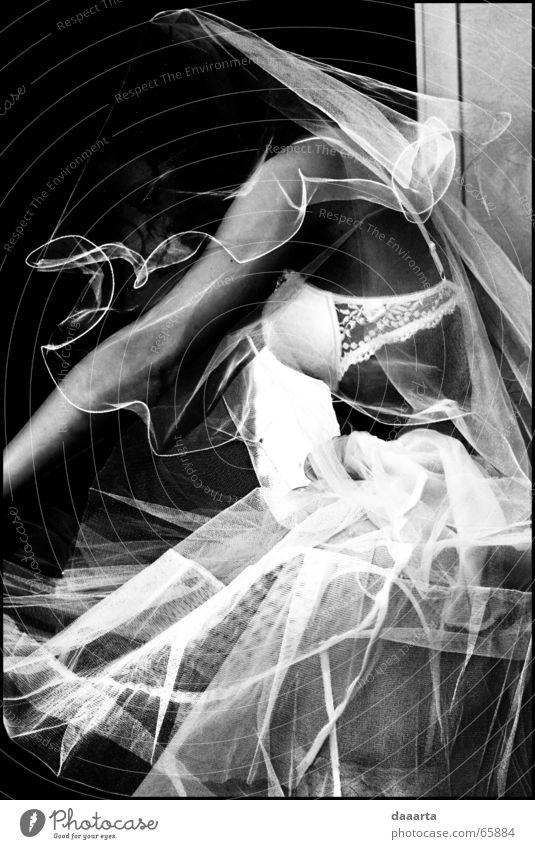 bride Emotions Wedding bw inside woman scary faceless