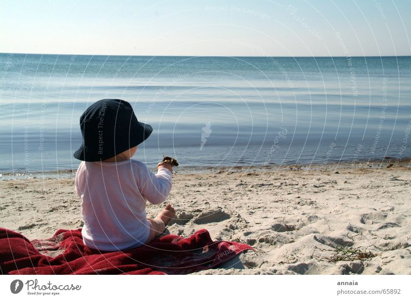 Child Water Ocean Joy Beach Vacation & Travel Calm Life Playing Dream Sand Island Vantage point Touch Curiosity Discover