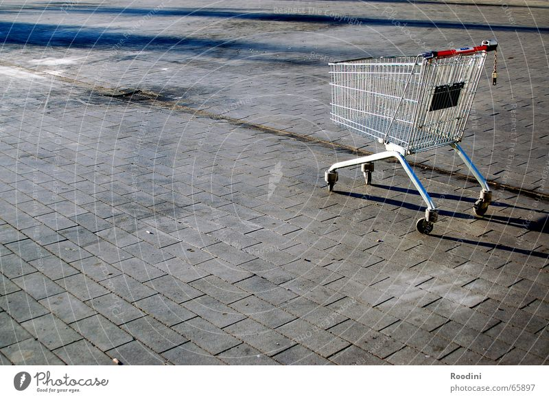 Metal Cobblestones Marketplace Supermarket Shopping Trolley Cage
