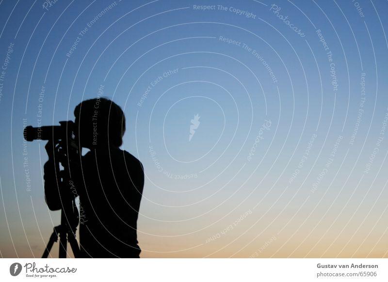 Sky Blue Red Camera Hunting Dusk Lens Objective Tripod Deerstalking