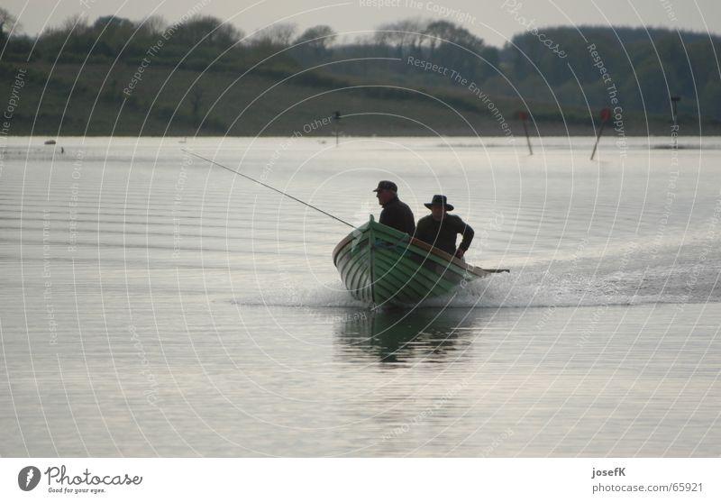 Water Lake Fish River Fisherman Ireland Angler Fishing boat Motorboat Shannon
