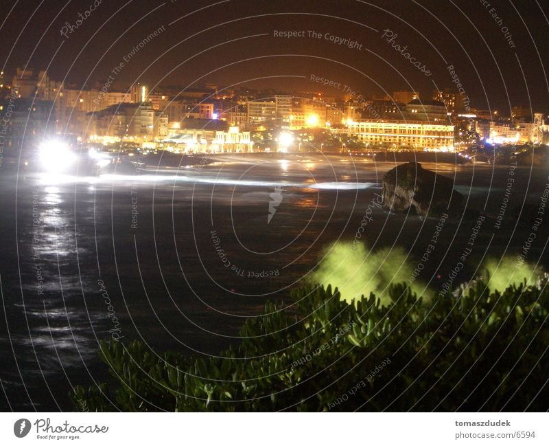 Ocean City Europe France Night Biarritz