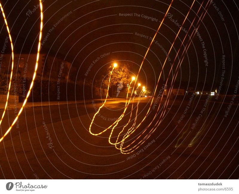streetlite Night Light Street lighting Long exposure Tracer path