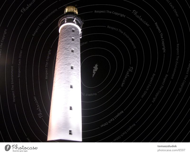 lighthouse Biarritz Lighthouse Night White Black Architecture Lamp