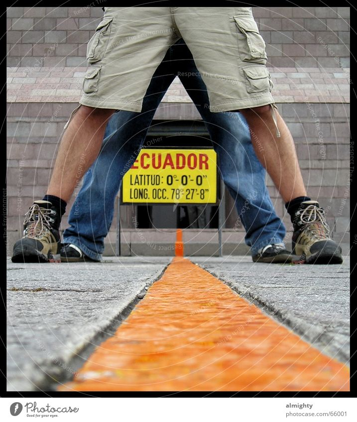 on both hemispheres of the earth Ecuador South America Border Northern hemisphere Southern hemisphere Equator earth hemispheres Legs