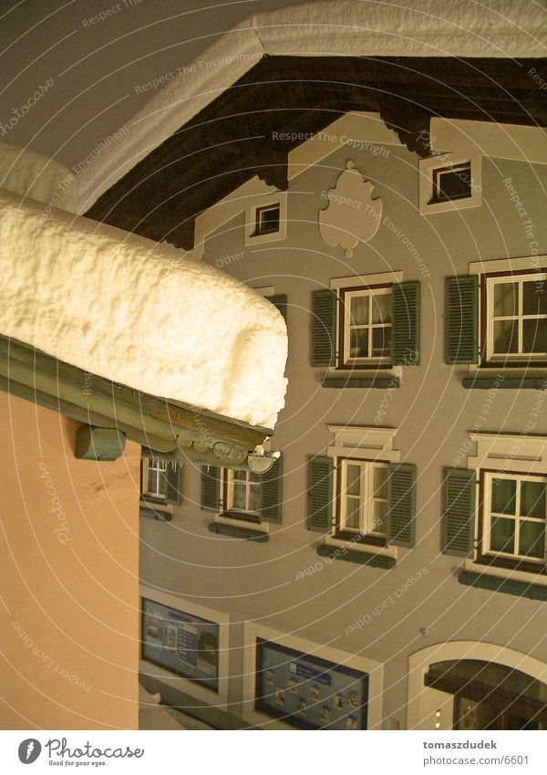 Snow in Austria Roof Night Cold House (Residential Structure) Architecture fenset